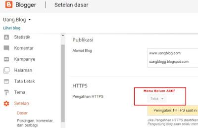 Cara Mengarahkan HTTP ke HTTPS pada Blog Custom Domain Blogger