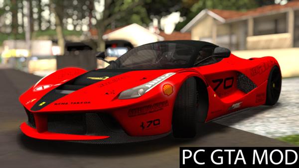 Free Download Ferrari Laferrarid  Mod for GTA San Andreas.