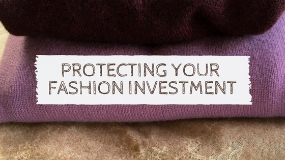 "shot of title ""Protecting Your Fashion Investment."""