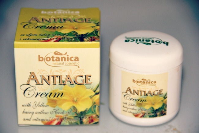 Botanica antiage face cream with yellow willow alow almond vitamins