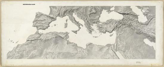 Mapa del Mediterráneo (1950)