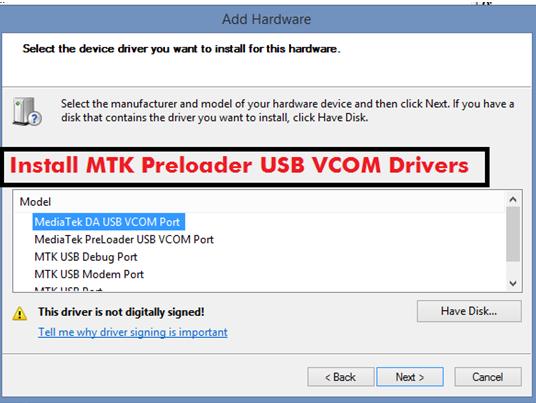 Download Mtk Usb Vcom Drivers Windows 10