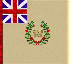 48th Regiment of Foot (Thomas Dunbar)  Regimental Colour