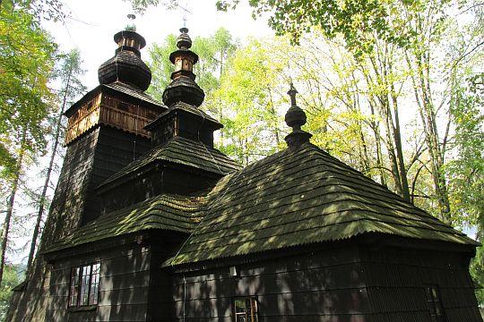 Cerkiew od południowo-wschodniej strony.