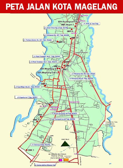 Gambar Peta Jalan Kota Megelang