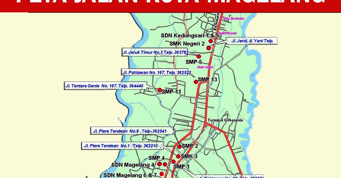 Peta Kota Magelang - Peta Dunia - Sejarah Negara | Tempat ...