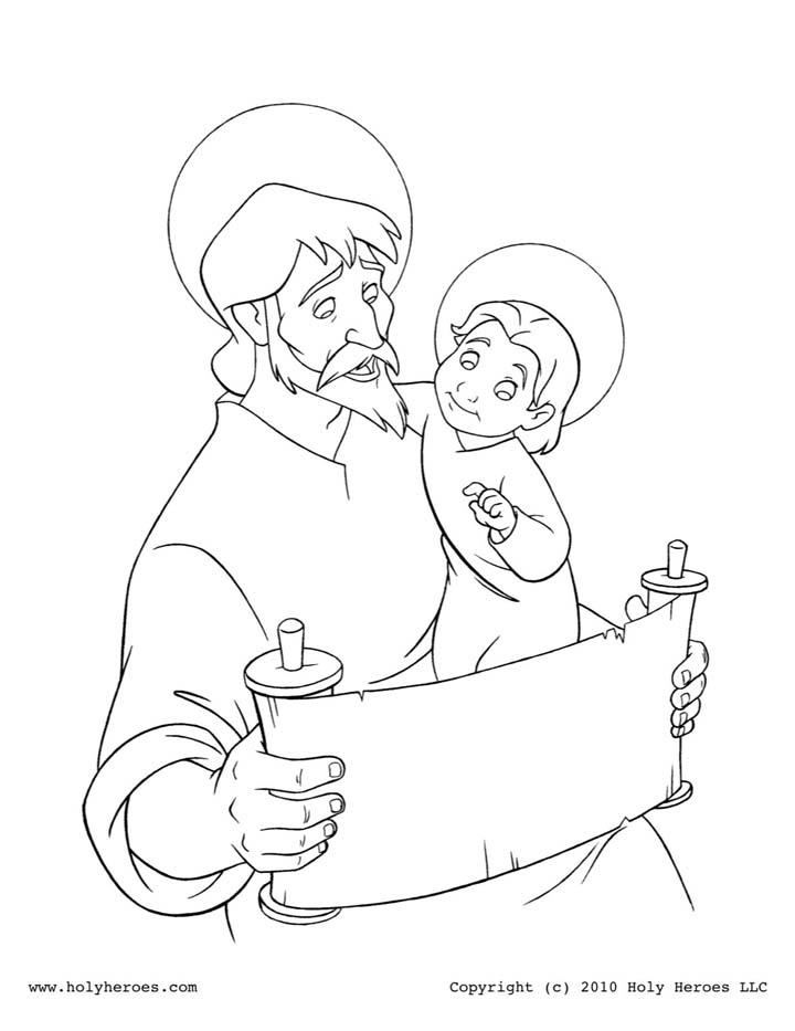 Compartiendo por amor: Historia San José en dibujos