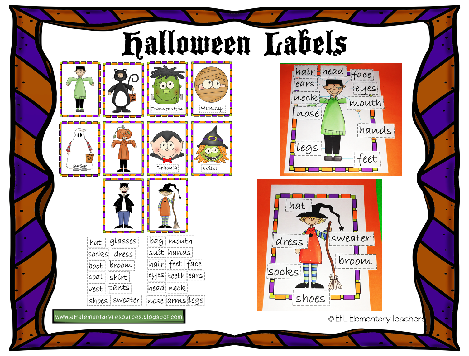 Efl Elementary Teachers Halloween Resources For