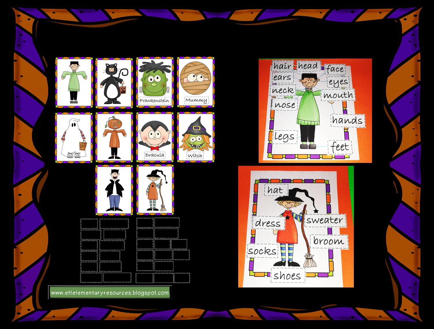 Efl Elementary Teachers Halloween Resources For