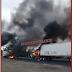 #ÚLTIMAHORA Video: Cartel de Jalisco se apodera de carretera federal de Córdoba