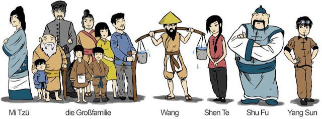 Von der shen shui ta gute te charakterisierung sezuan mensch Der gute