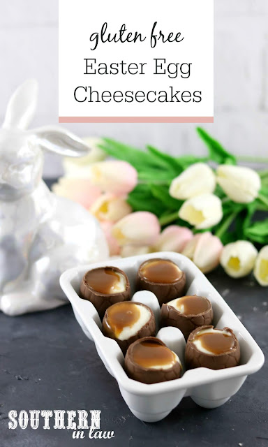 Gluten Free Easter Egg Cheesecakes Recipe - Easy Easter Dessert Ideas, Healthy Dessert Recipes, Gluten Free, Grain Free, Egg Free, No Bake Cheesecake in an Easter Egg