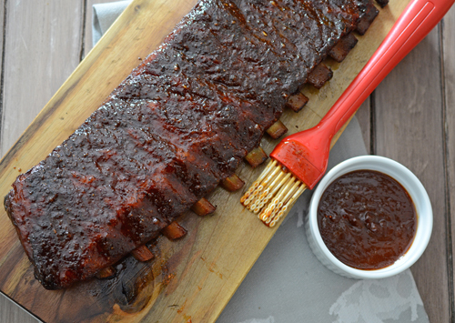 kamado ribs, competition style ribs, Vision grill ribs