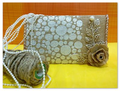 Front of burlap pouch