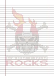 Folha Papel Pautado Cabo Frio Rocks em PDF para imprimir folha A4