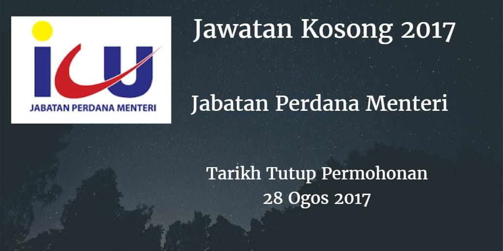 Jabatan Perdana Menteri Jawatan Kosong ICU JPM 28 Ogos 2017