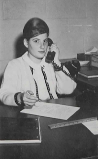 Sherrie Pollack in 1964 working at the newspaper