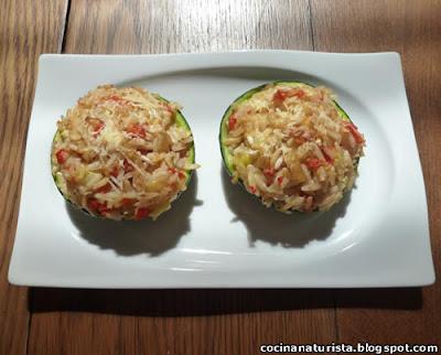 cocina naturista,comida natural alimento saludable, zapallitos rellenos