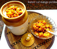 instant cut mango pickle