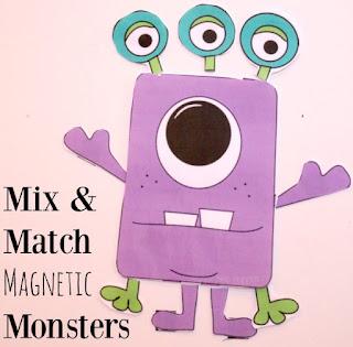 preschool monster printable