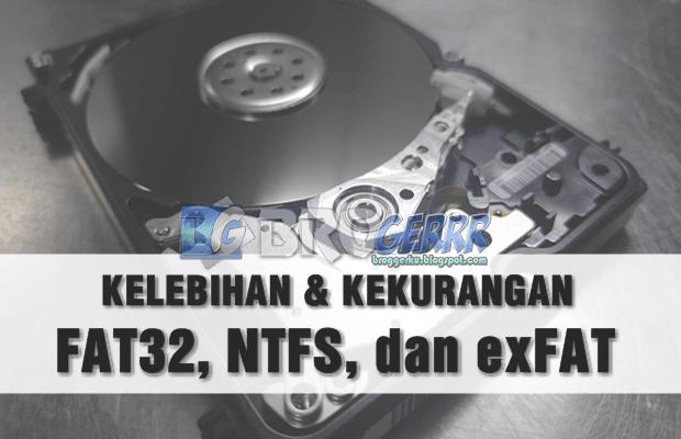 Perbedaan Format FAT32, NTFS, dan exFAT