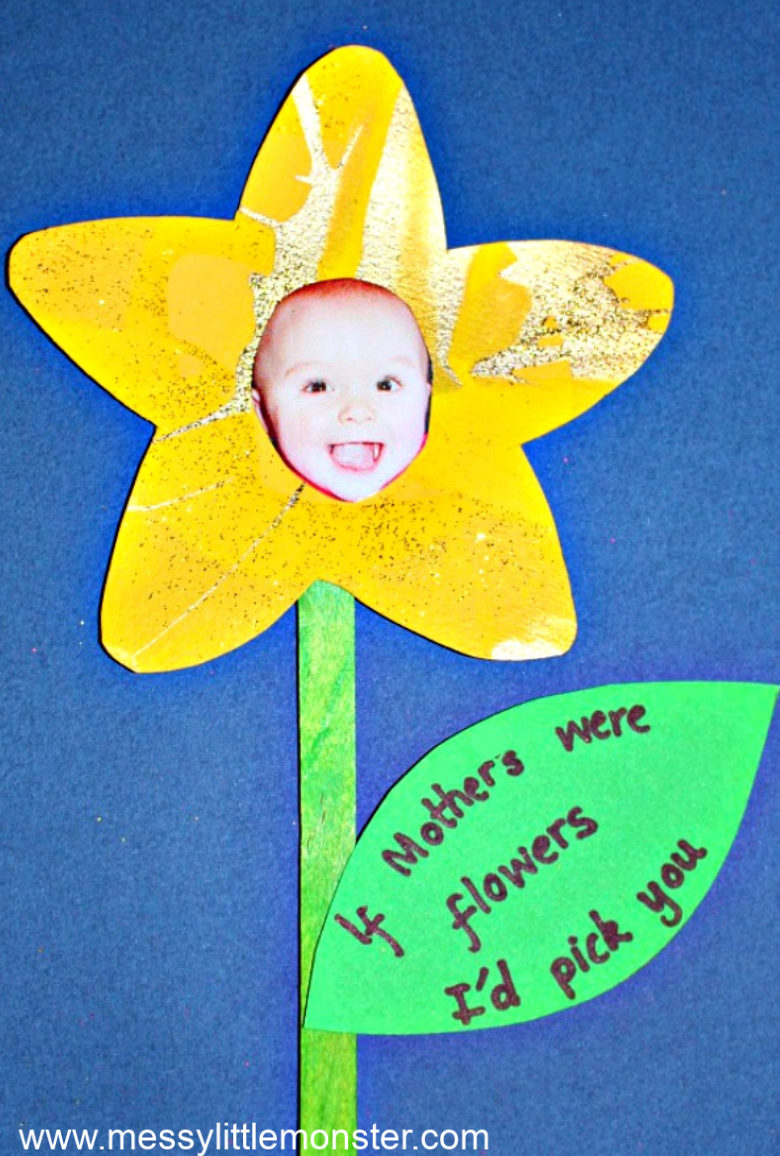 Mothers Day flower craft for kids. If mothers were flowers I'd pick you.