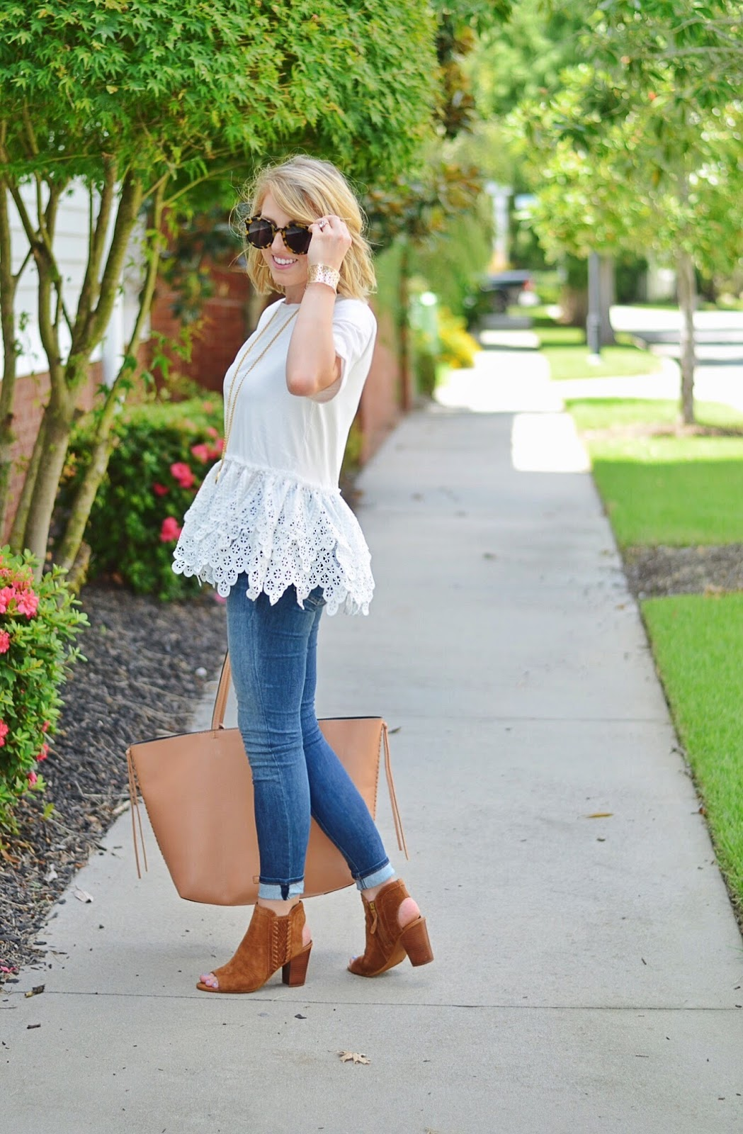 Endless Rose Lace Peplum