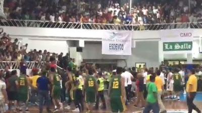 Brawl Between Lasalle and FEU at Kadayawan Festival in Davao