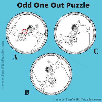 Answer of Odd One Out Visual Riddle for Teens