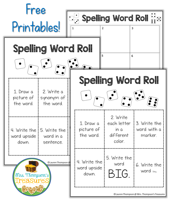 http://www.mrsthompsonstreasures.com/2016/03/8-fun-spelling-word-activities-word-work.html