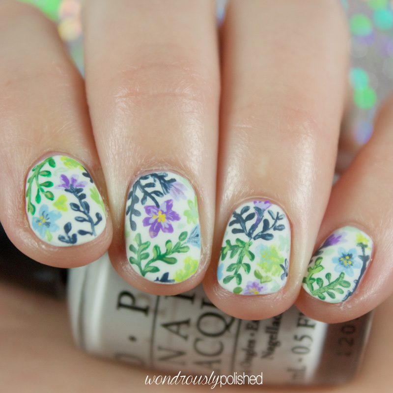 Wondrously polished garden party floral nail art i had plans to swatch this weekend but that wasnt able to happen so i did the next logical thing and painted a flower garden on my nails d that makes prinsesfo Choice Image
