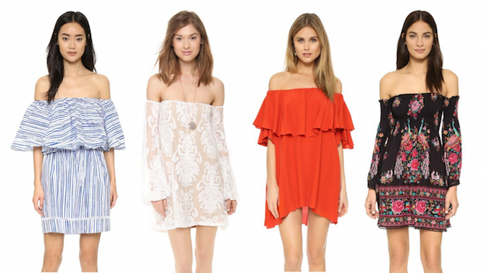 Off the Shoulder Mini Dresses