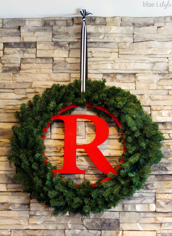 Easy DIY Monogram Christmas Wreath