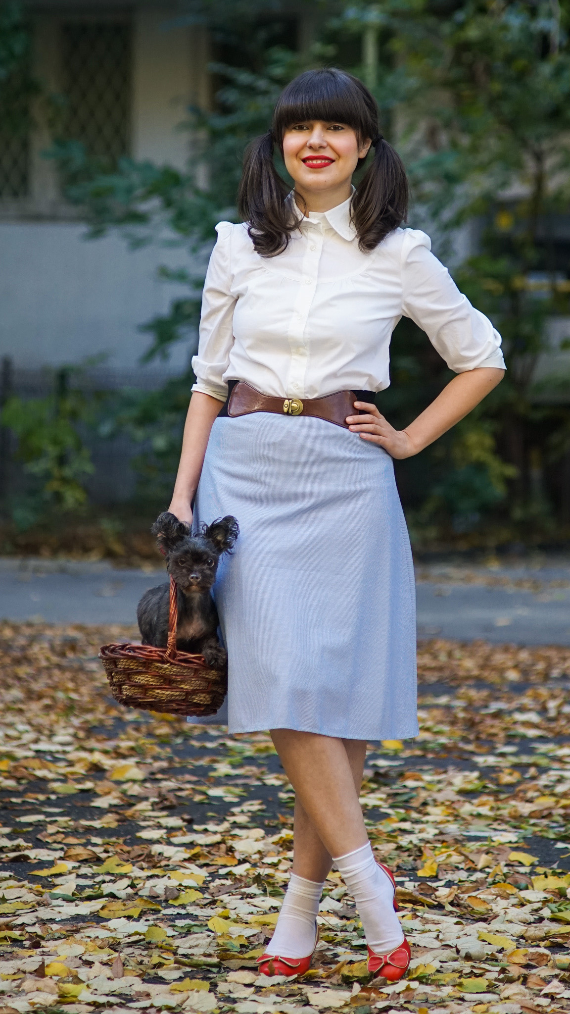 miss green: easy diy halloween costume - dorothy