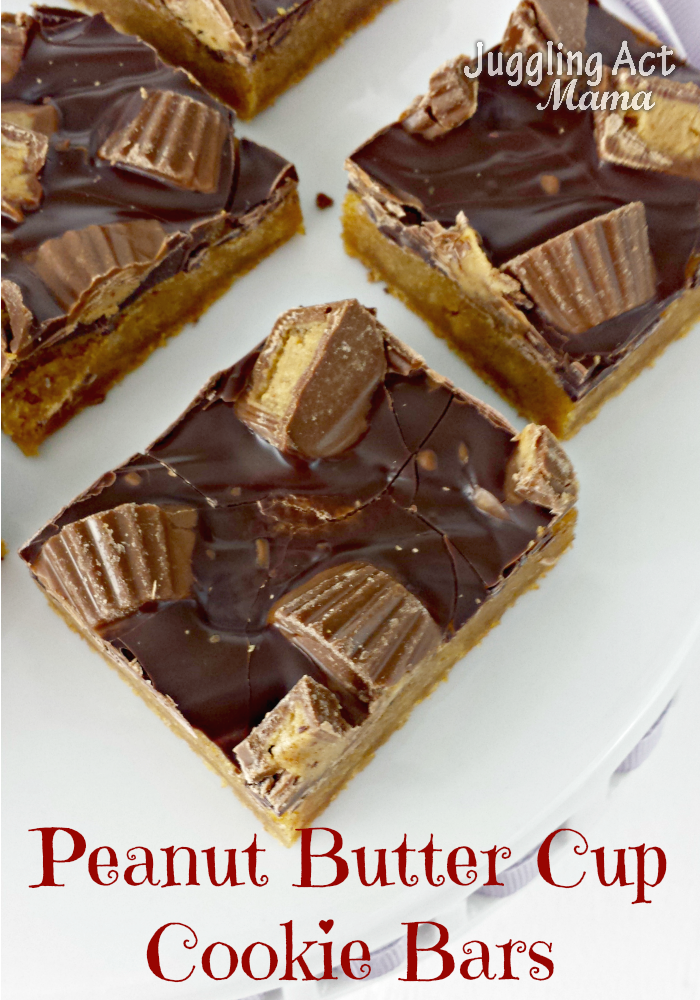 If you love peanut butter and chocolate, you'll love this mouth watering peanut butter cup cookie bars recipe! #semihomemade #peanutbutter #chocolate