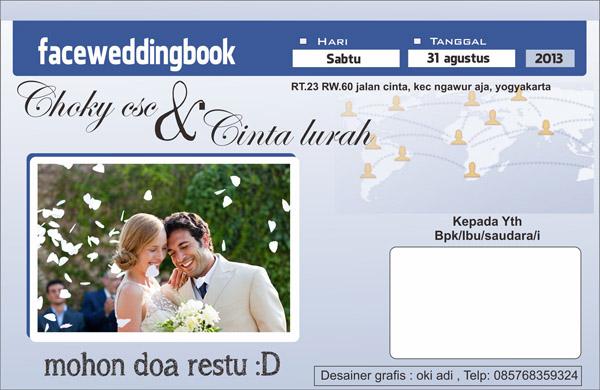 Model Desain Undangan Wedding Lucu Unik Terbaru Undangan Unik Semarang