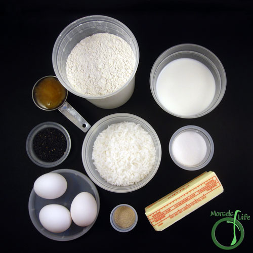 Morsels of Life - Chinese Coconut Buns Step 1 - Gather all materials.