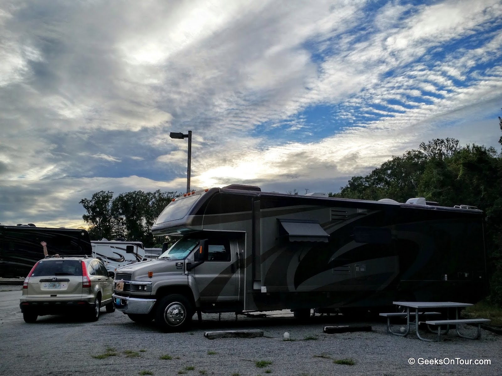 Geeks On Tour Blog 09 01 2015 10 50 Amp Rv Hookup They Offer A Boat Storage Yard For Residents And It Includes 6 Full Sites We Generally Have The Place All To Ourselves