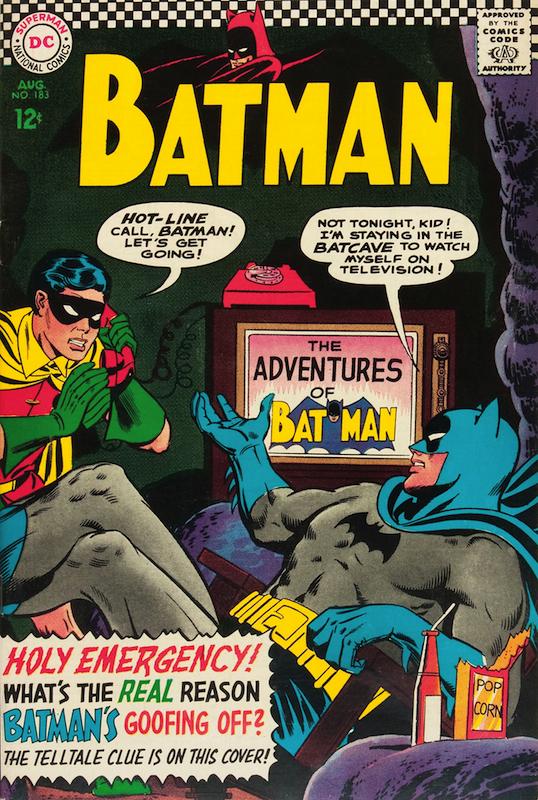 Batman #183 (1966):  Carmine Infantino penciler  Gardner Fox writer  Gaspar Saladino letterer  Joe Giella inker  Julius Schwartz editor  Murphy Anderson cover  Robert Kanigher writer  Sheldon Moldoff penciler