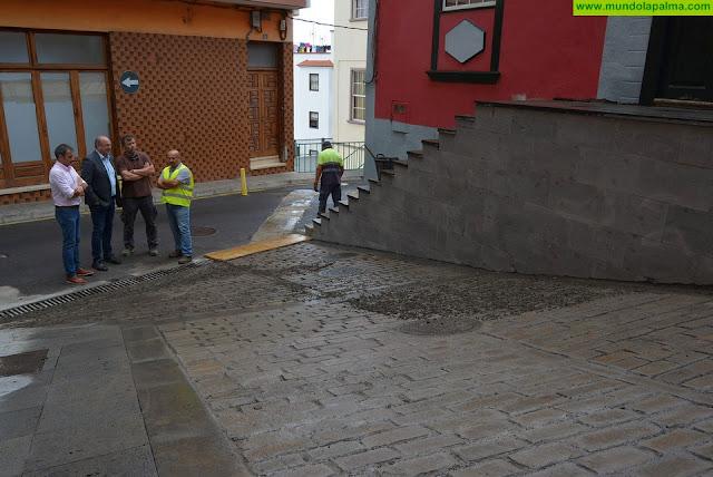 El Cabildo avanza en las obras de urbanización de la calle El Topo de San Andrés y Sauces
