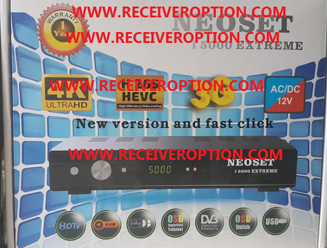 NEOSET i 5000 EXTREME HD RECEIVER AUTO ROLL POWERVU KEY NEW SOFTWARE