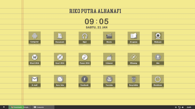 ikon dekstop android windows
