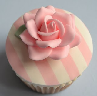 pink and white striped cupcakes