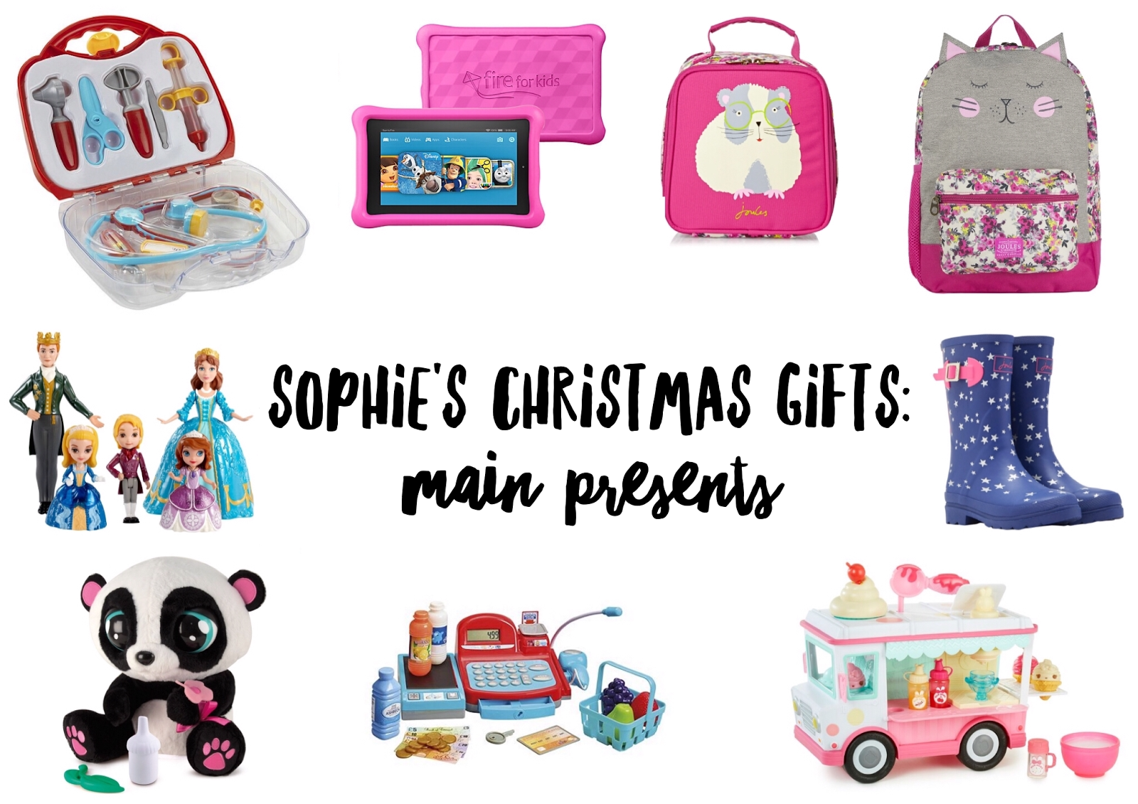 sophies christmas gifts 2016 main presents