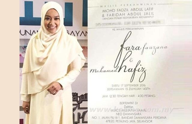 Perkahwinan Batal, Tapi Kad Kahwin Fara Fauzana Dah Diedar