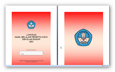 Buku Raport SD/MI Kelas V Kurikulum 2013