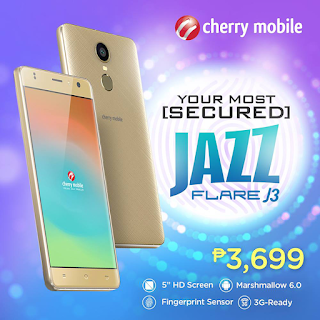 Cherry Mobile Flare J3 with Fingerprint Sensor Announced for Php3,699