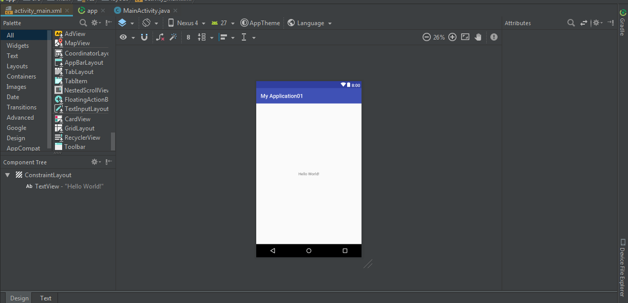 design editor is unavailable until a successful build android studio