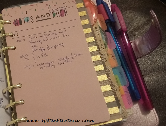 Notes in a Planner, planner