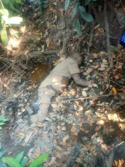 Graphic video/photos: Remains of kidnapped Taraba Lawmaker, Hosea Ibi dumped in forest by kidnappers after collecting N35 million ransom